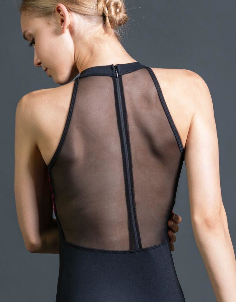 Suffolk Zip Back Leotard with Burnout Velvet - 2210A