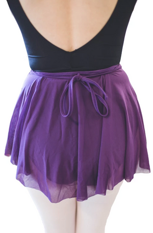 Audition Dancewear Mesh Wrap Skirt - Assorted Colors