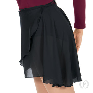 "Eurotard 19"" Chiffon High Low Wrap Skirt - 10126P"