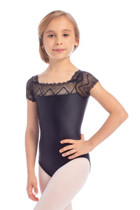 So Danca Girls Lace Cap Sleeve Leotard - L1841