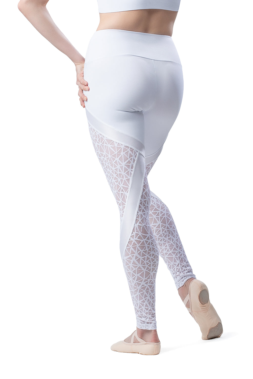 So Danca Leggings with Webbed Mesh Inserts - RDE1915