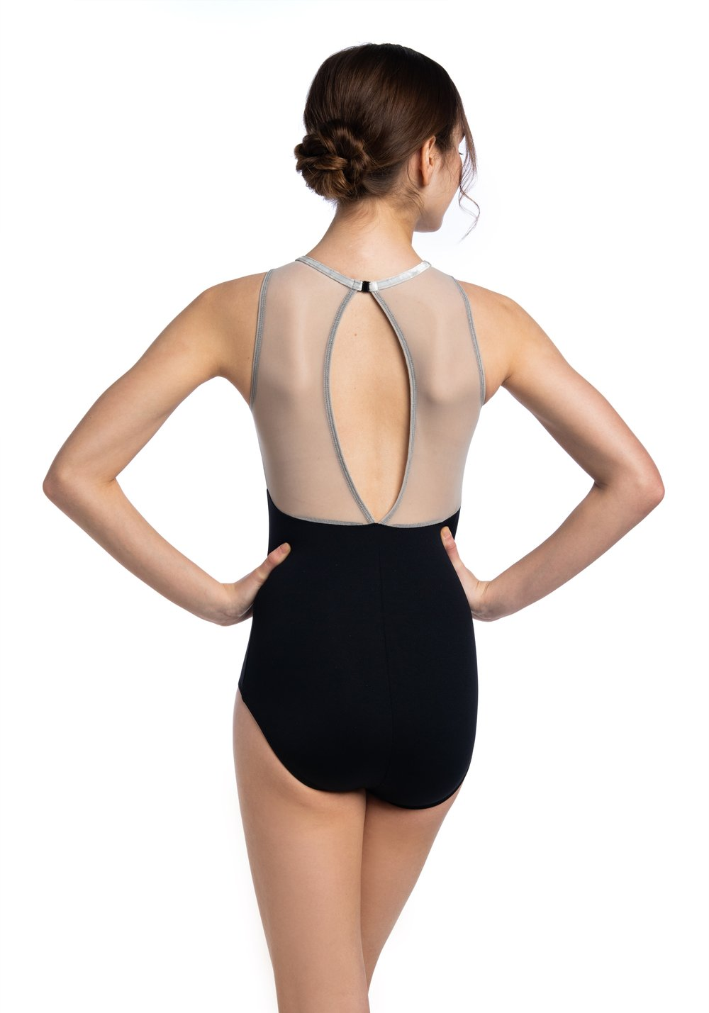 Ainsliewear Daphne Leotard with Crushed Velvet - 1054CV