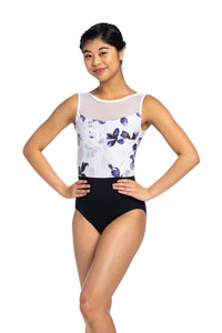 Ainsliewear Camille Leotard with Frosted Petal Print - 1080FP