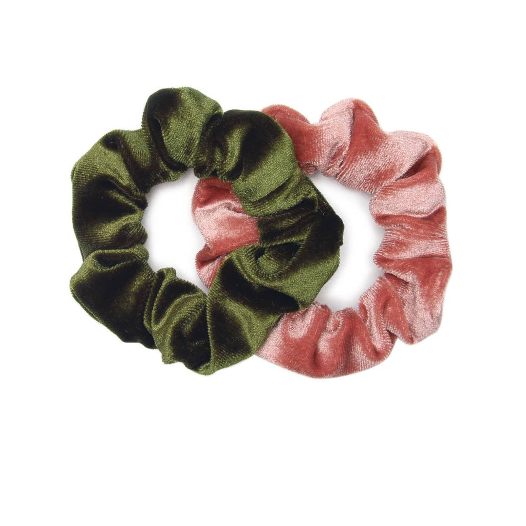 Velvet Scrunchie 2-Pack, by Banded