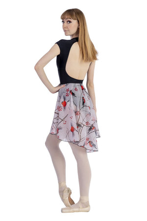 Audition Dancewear Hi-Low Chiffon Skirt - Snow Bird