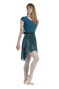 Audition Dancewear Hi-Low Skirt - Winter Frost