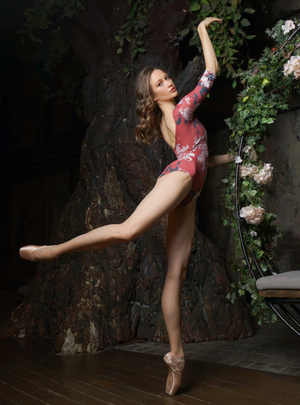 Eleve Dancewear Poppy Leotard in Cinnamon Flower