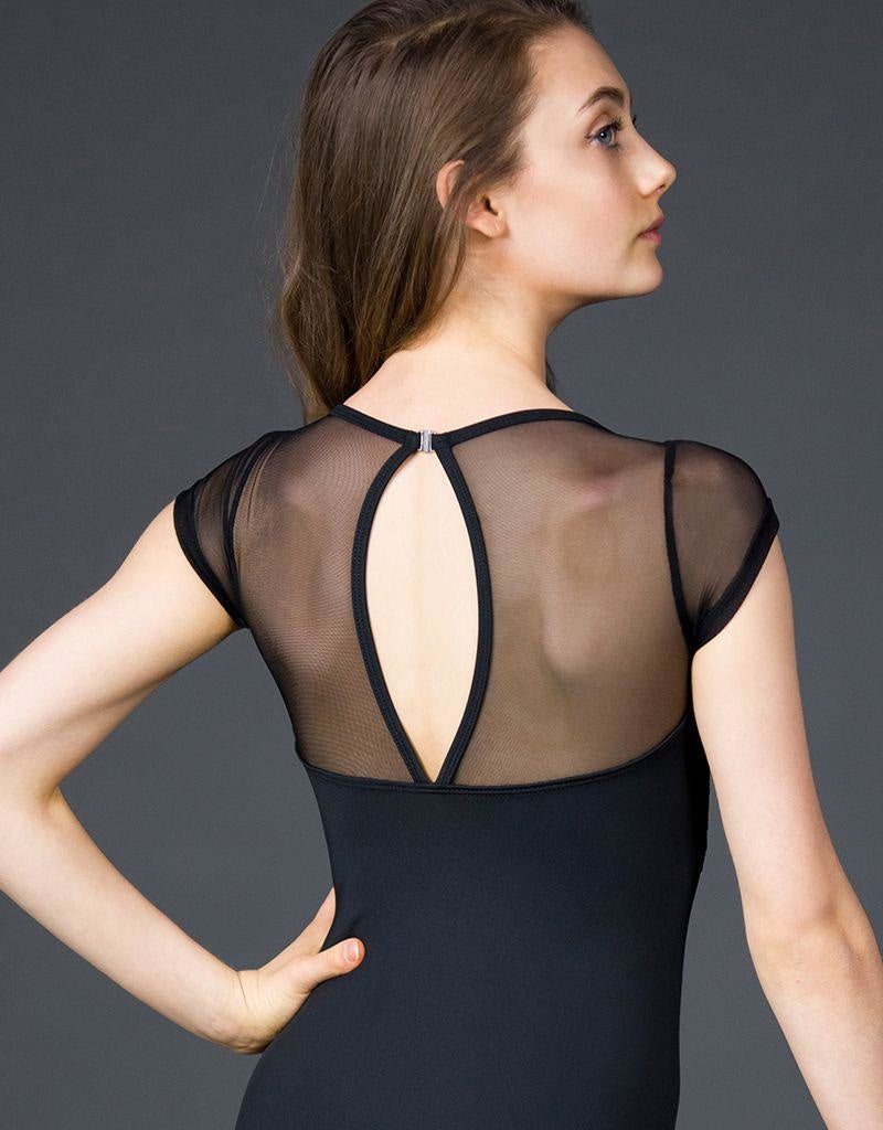 Suffolk Lace and Mesh Cap Sleeve Leotard - 2247A