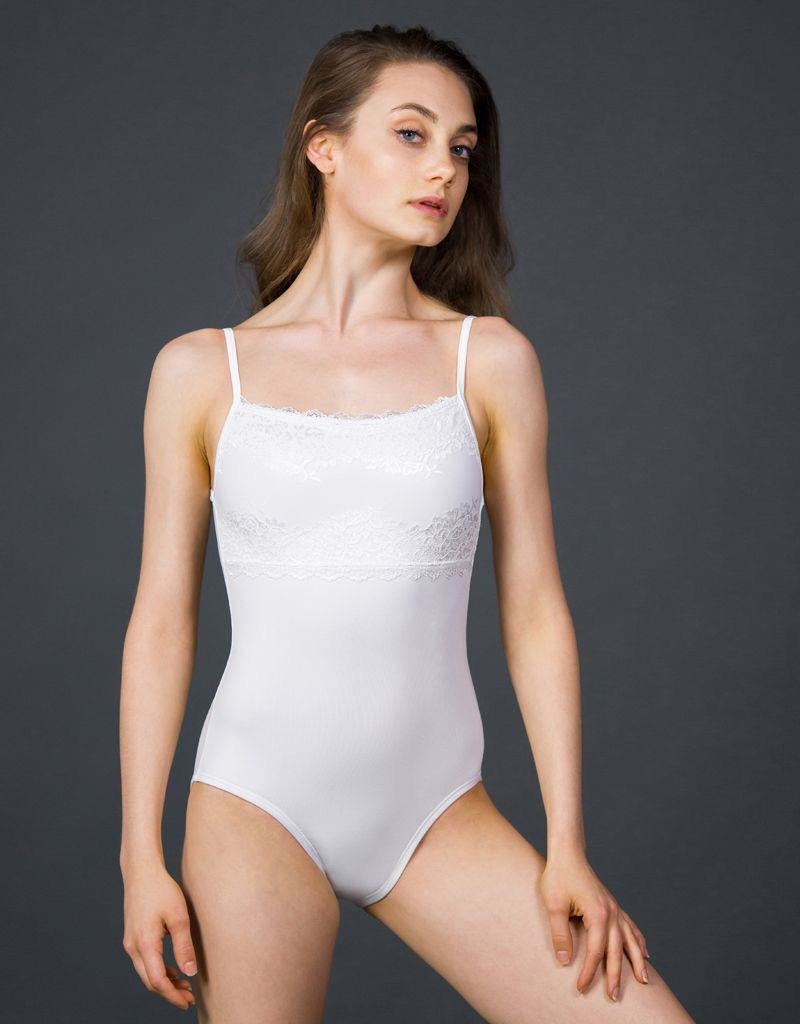 Suffolk Lace Trim Camisole Leotard - 2242A