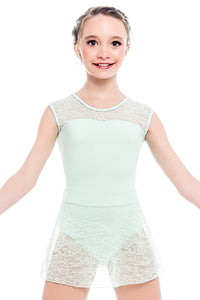 So Danca Girls Leotard with Lace Cap Sleeves - L1903