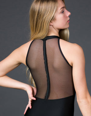 Suffolk Conservation Mock Neck Leotard with Zip Back - 2304A