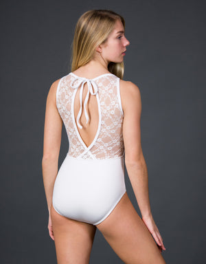 Suffolk Jewel Neck with Fish Back Leotard - 2251A