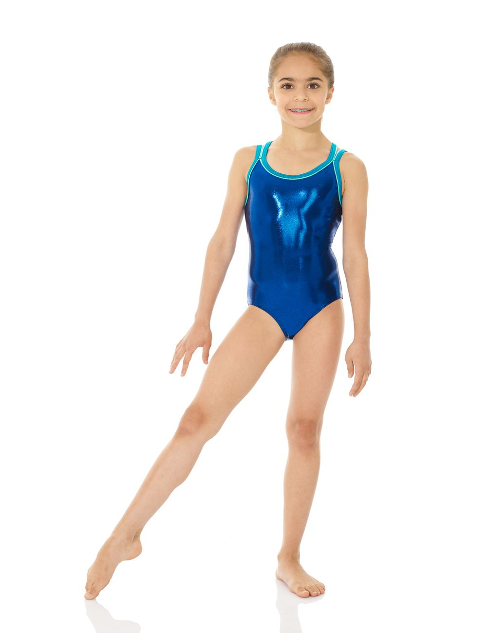 Mondor Girls Strappy Gymnastics Leotard - 7892