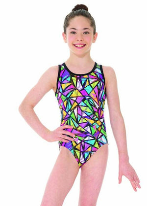 Mondor Strappy Back Gymnastics Leotard with matching scrunchie- 27851