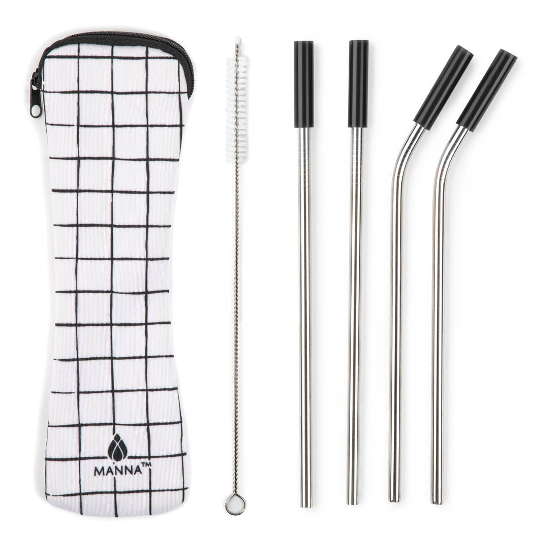 Reusable Stainless Steel Straw Set - 6 Piece Set