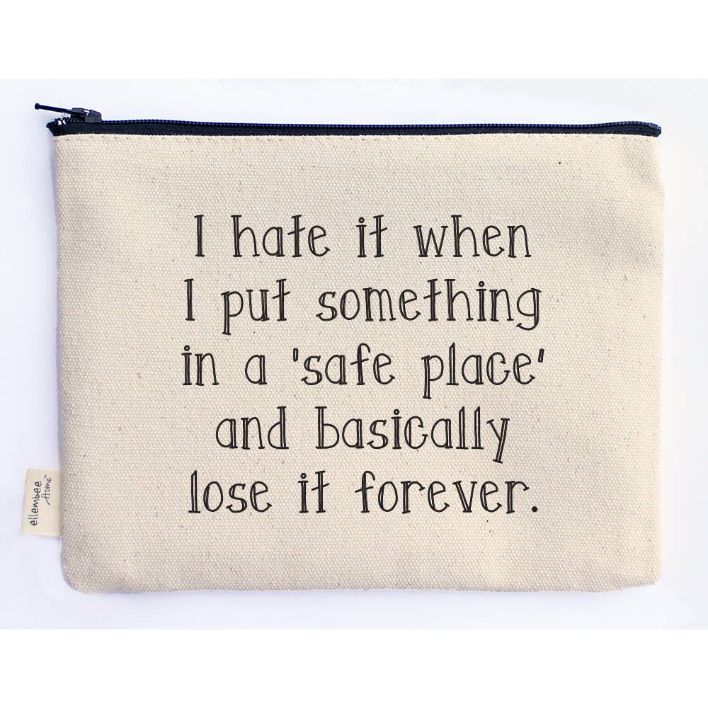 Canvas Quotable Accessory Bags