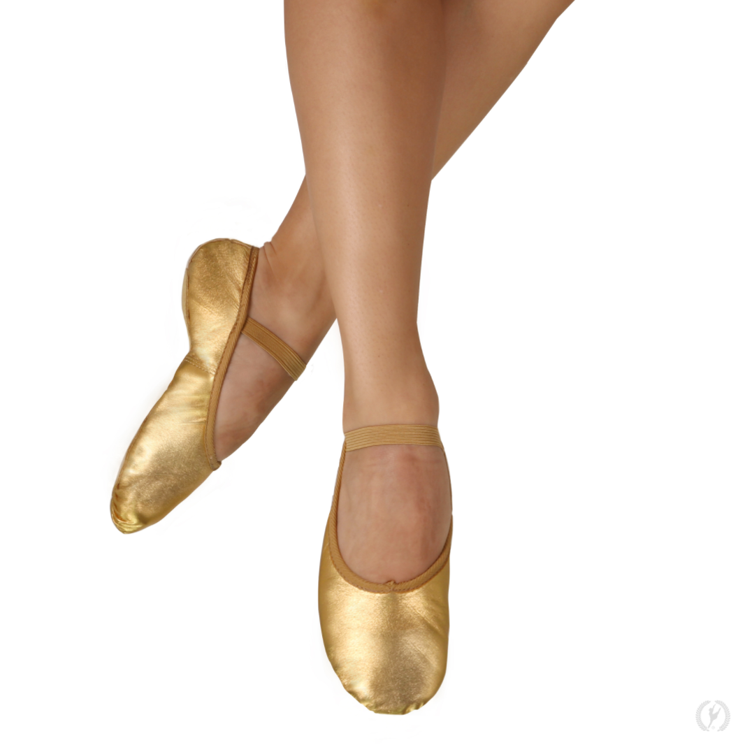 Eurotard Adult Metallic Leather Ballet Slippers - A2001a