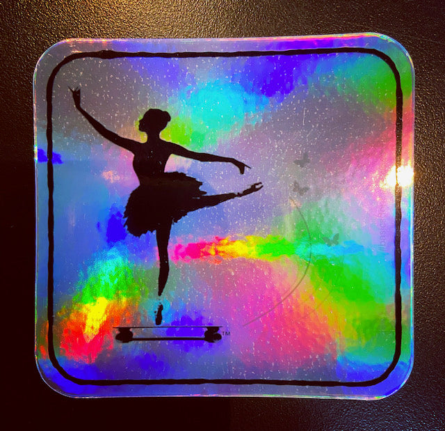 Ballet Holographic Logo Stickers