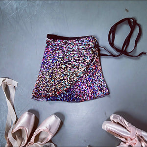 Jule Dancewear Girls Midnight Confetti Wrap Skirt