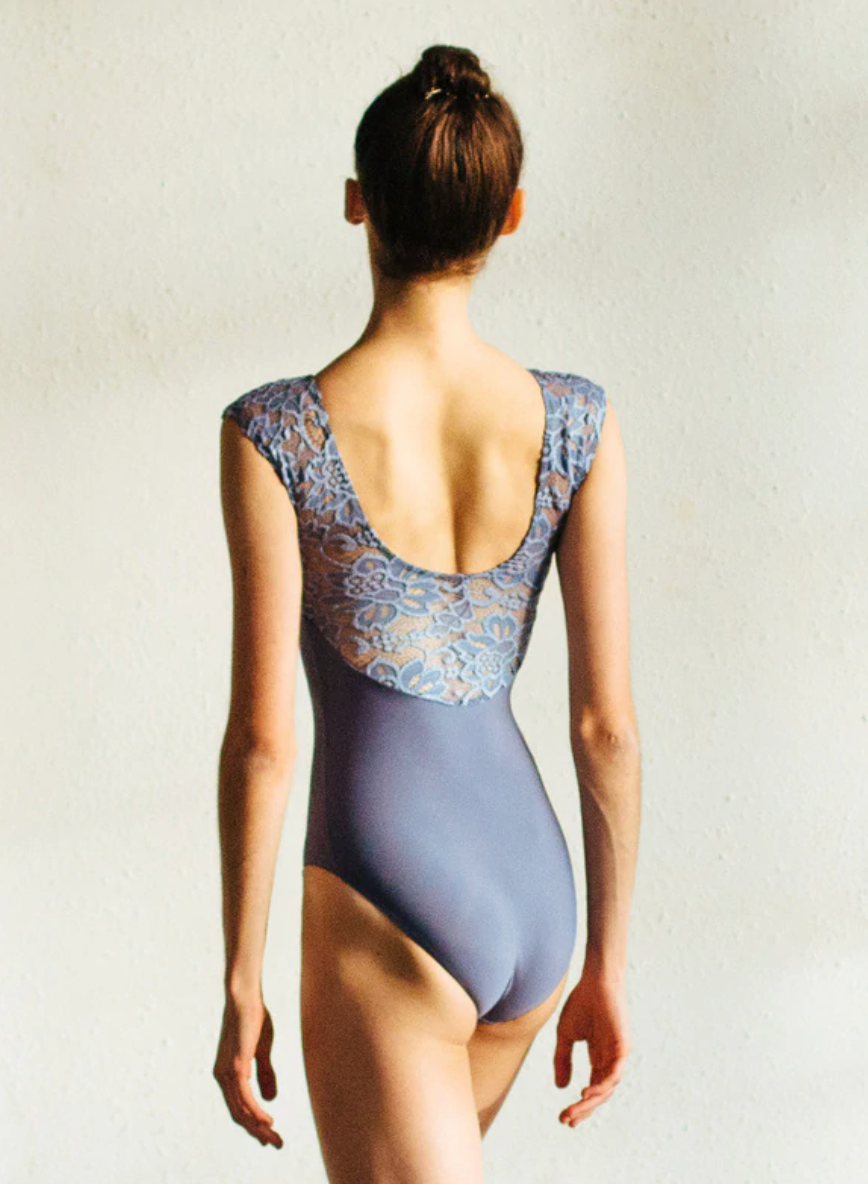 Eleve Dancewear Girls Lilli Leotard in Wisteria Bella Lace