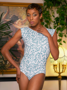 Eleve Dancewear Melanie Leotard in Ivy Manor Print