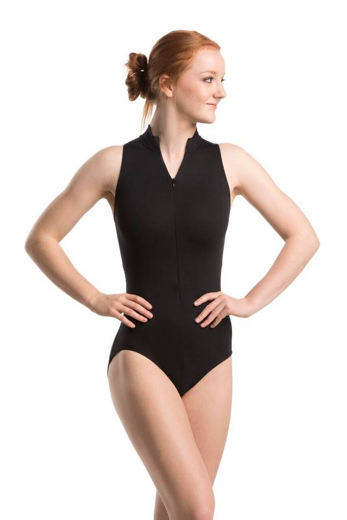 Ainsliewear Zip Front Leotard with Butterfly Mesh Back - 1062BU