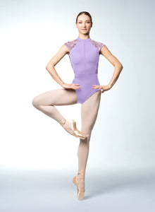 Bloch Zip Front Cap Sleeve Leotard - L9982