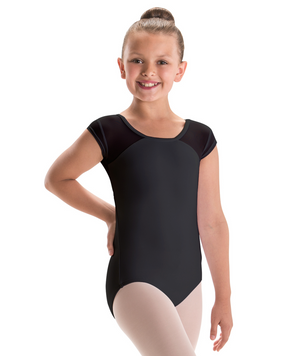 Motionwear Girls Mesh Cap Sleeve Leotard - 2259