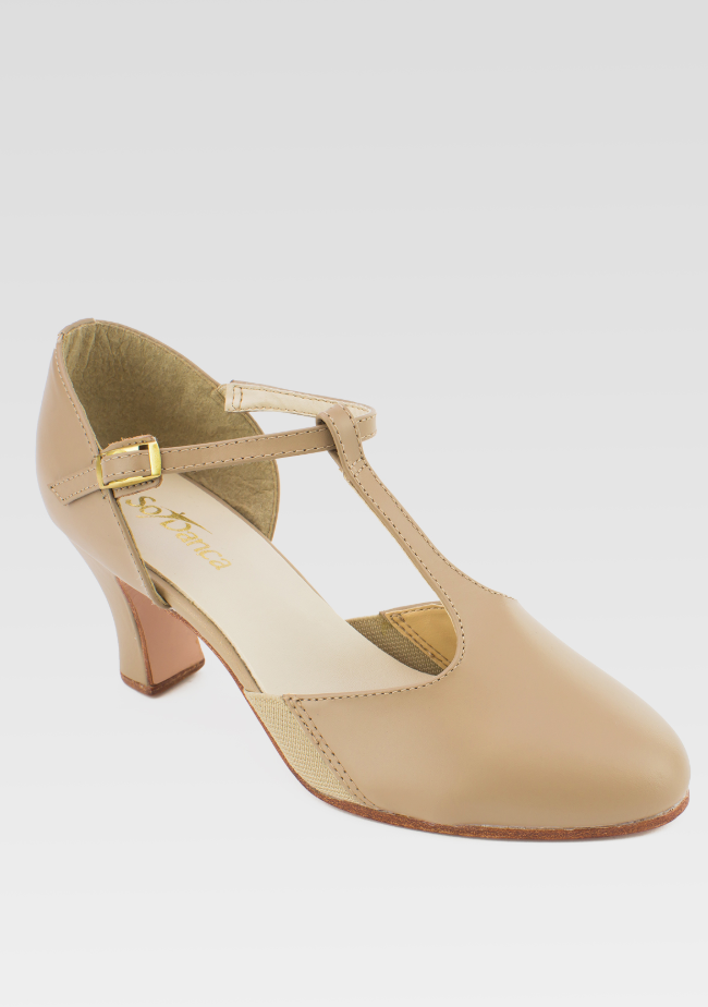 "So Danca Leather T-Strap with 2.5"" Heel - CH56"