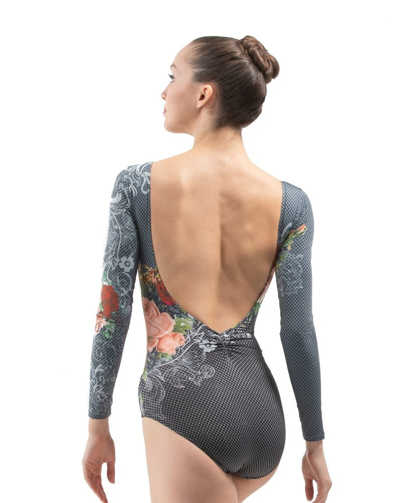 Ballet Rosa Long Sleeve Print Leotard - Laureline