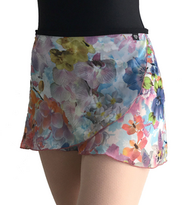 Jule Dancewear Adult Wrap Skirt - Orchids WS134