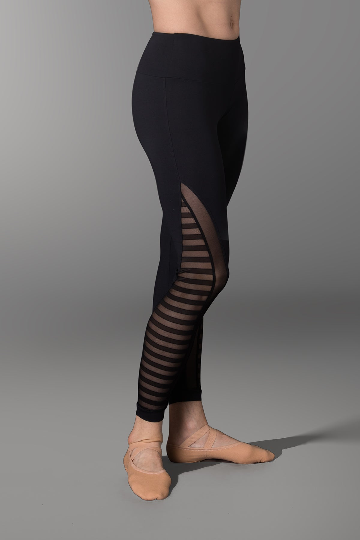So Danca Sara Mearns Striped Mesh Leggings - RDE1782
