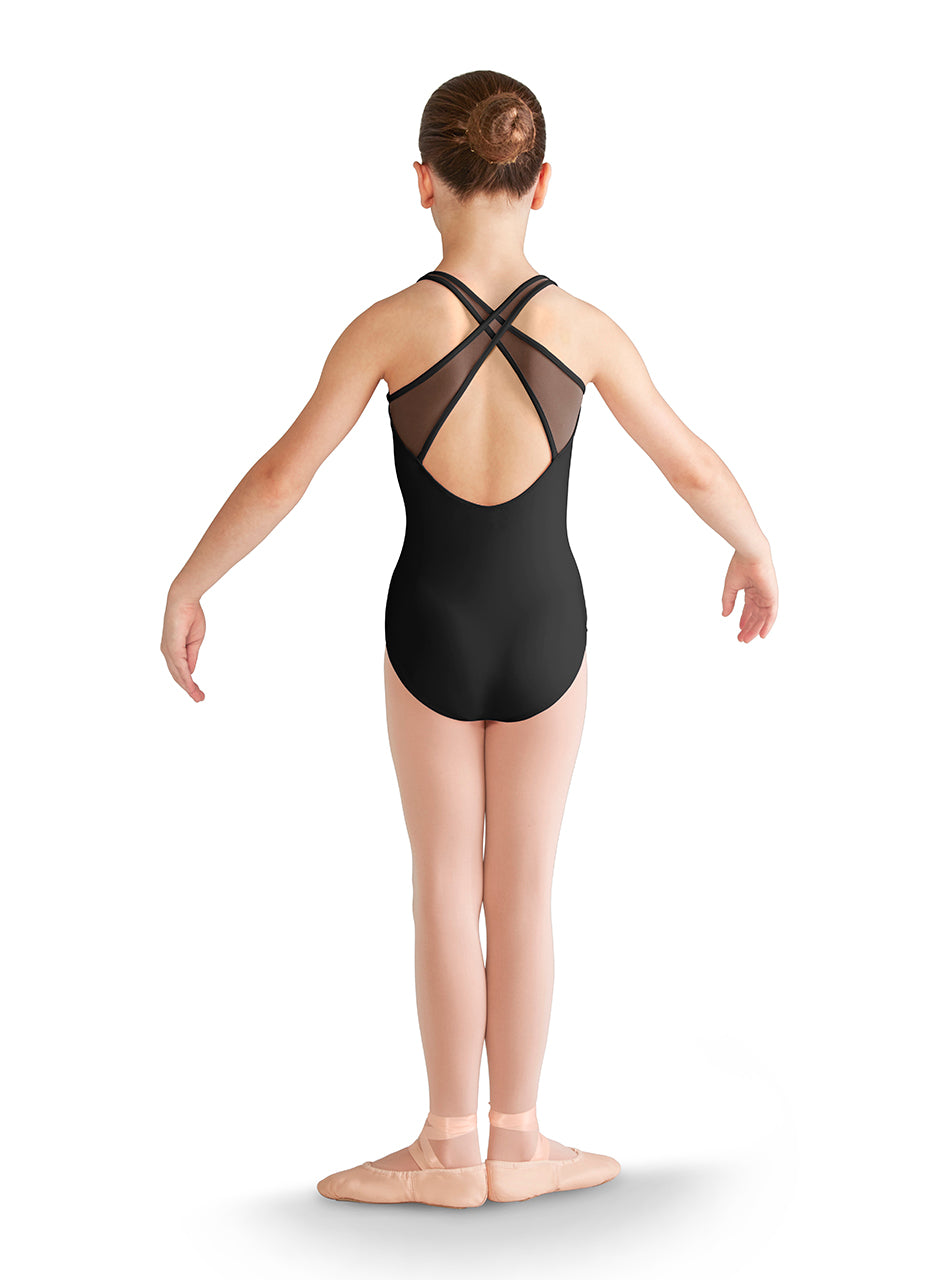 Mirella Mesh Cross Back Leotard - M355C