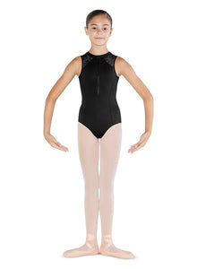 Bloch Zip Front Tank Leotard - CL4885