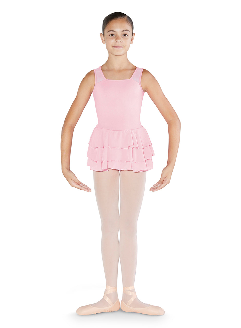 Bloch Tank Leotard with Tiered Skirt - CL3525