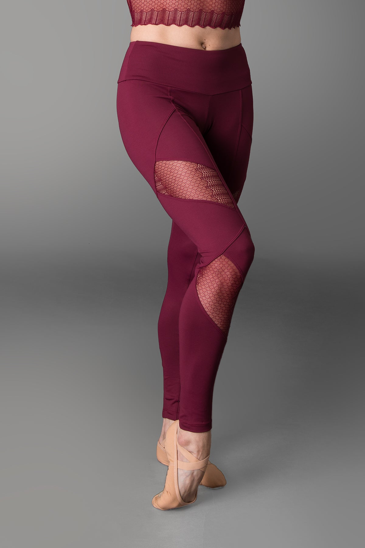 So Danca Sara Mearns Lace Insert Leggings - RDE1796