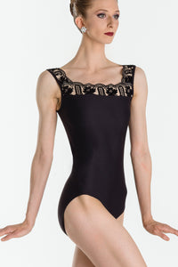 Wear Moi Embossed Mesh Tank Leotard - Arletty