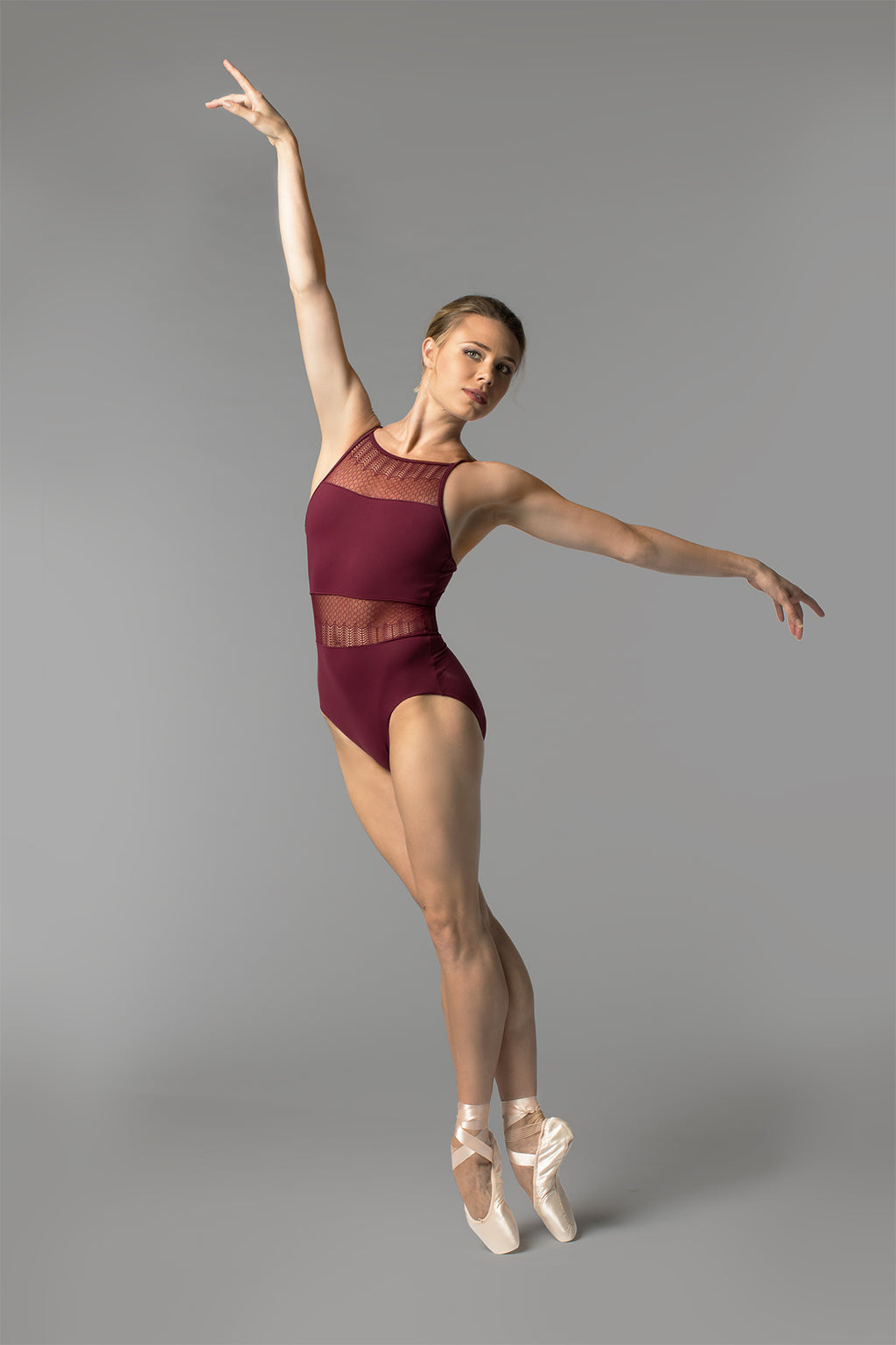 So Danca Sara Mearns Lace Insert Camisole Leotard - RDE1712