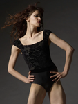 Eleve Dancewear Angelina Baroque Leotard with Floral Velvet