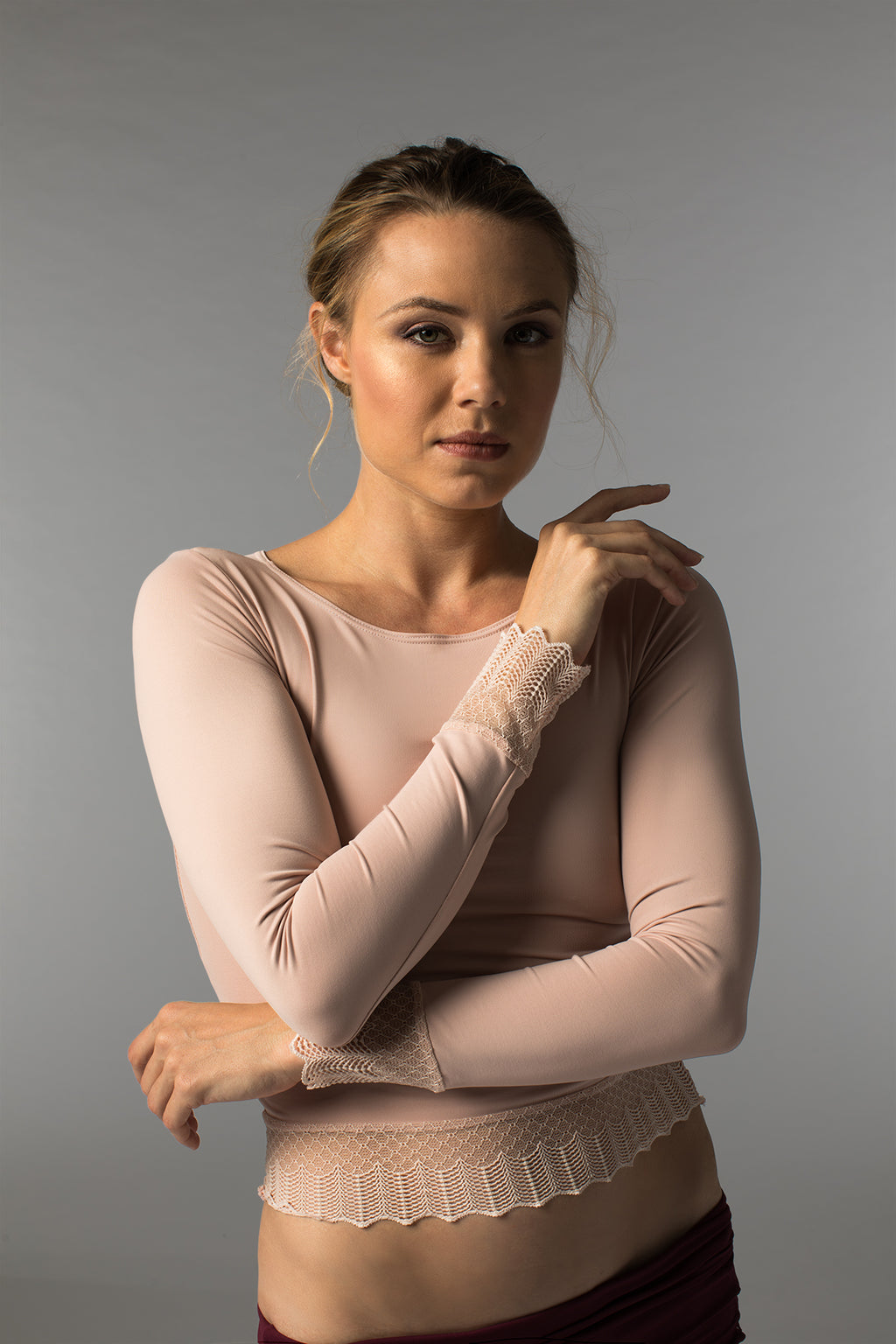 So Danca Sara Mearns Top with Scallop Lace - RDE1734