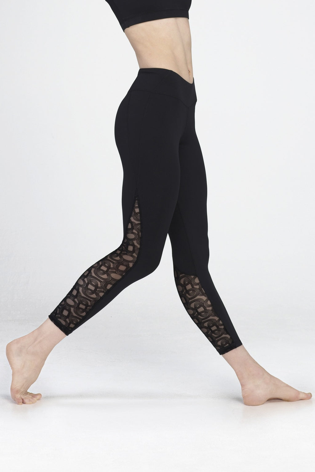 Wear Moi Patterned Mesh Leggings - Avery