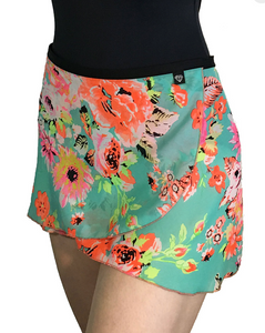 Jule Dancewear Girls Wrap Skirt - Neon Garden WS111