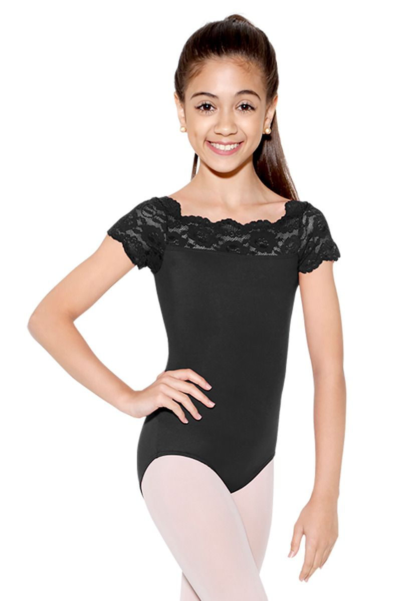 So Danca Tilly Lace Cap Sleeve Leotard - SL17