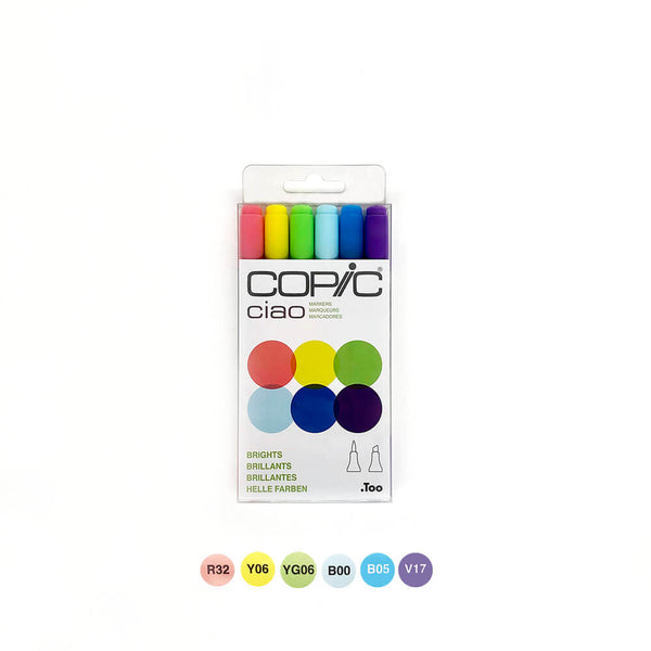 Copic Ciao Brights Set of 6