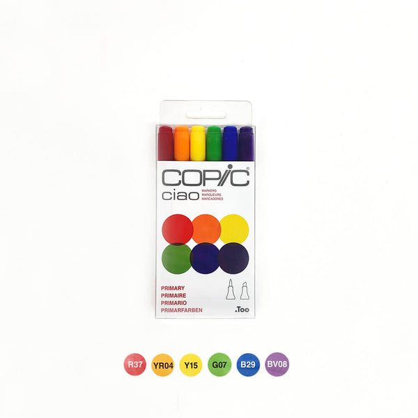 Copic Ciao Primary Set of 6