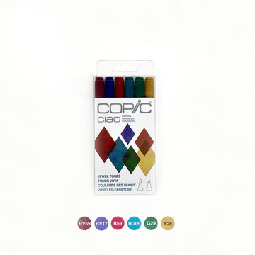 Copic Ciao Jewel Tones Set of 6