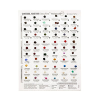 Daniel Smith Watercolour Try It Sheet - 66 Colours