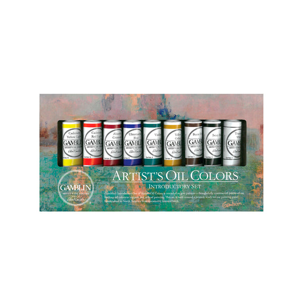 Gamblin Artists Oil Introductory Set of 9