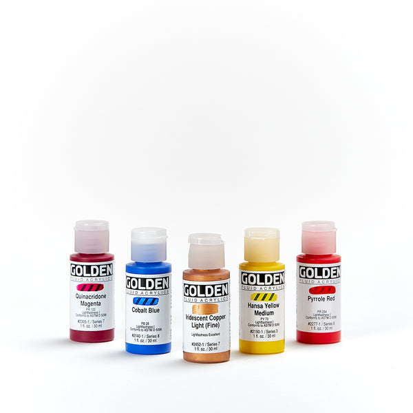 Golden Fluid Acrylic 30mL Series 5 and Series 6