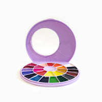 Himi Semi Moist Watercolour Set 24 Round Purple Case